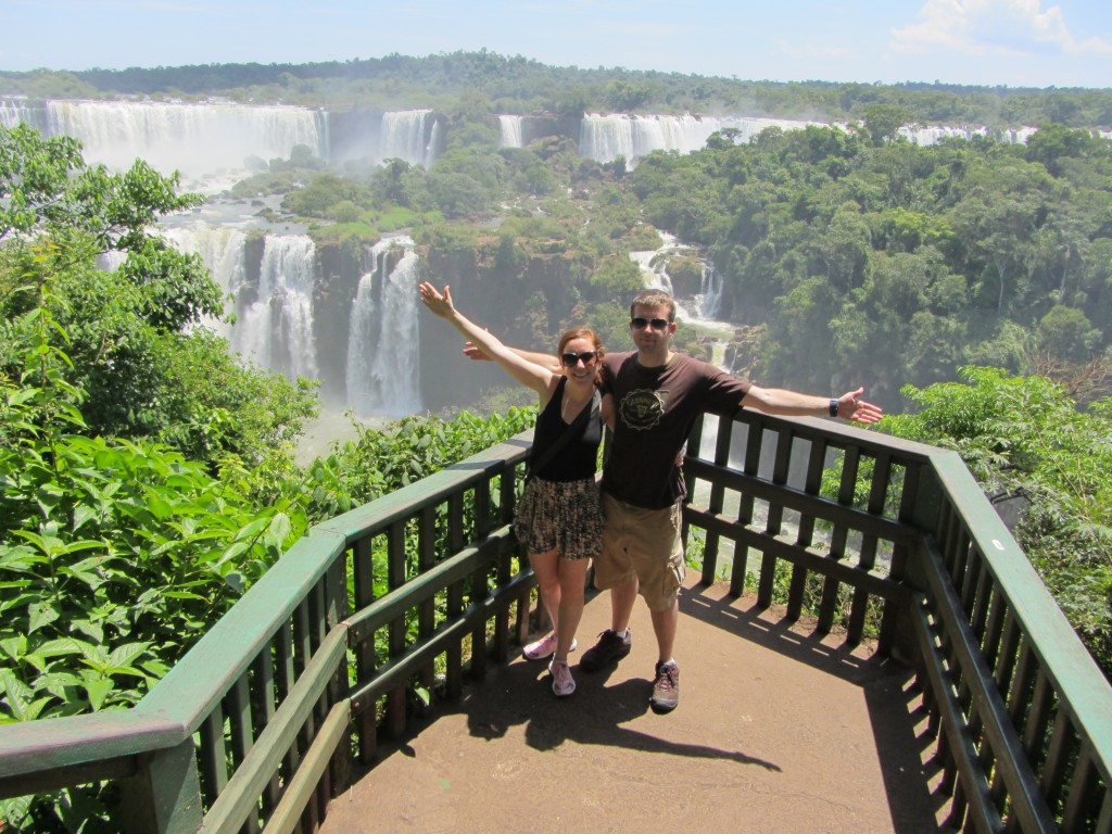 Lauren and Chris in Iguazu Falls
