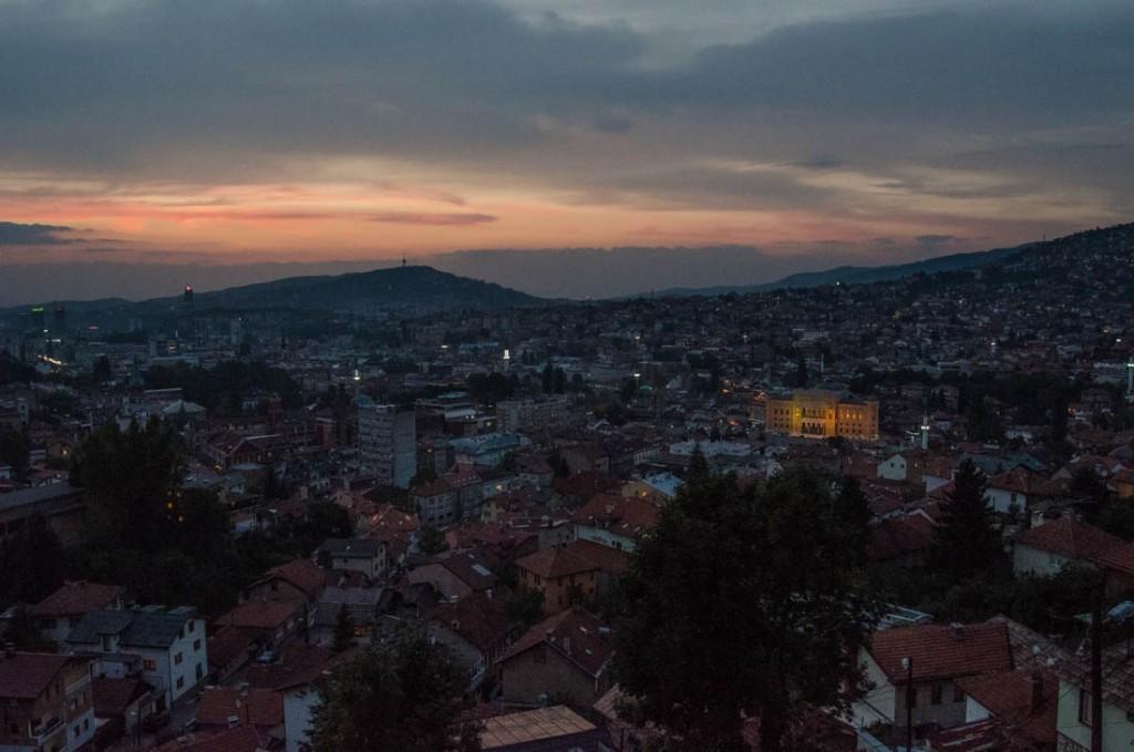 Sarajevo's Somber Sunsets